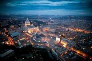 Vatican-at-nightfall