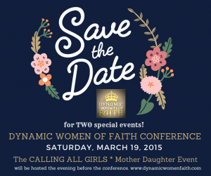 Save the Date – DWF Conference Saturday March 19, 2016