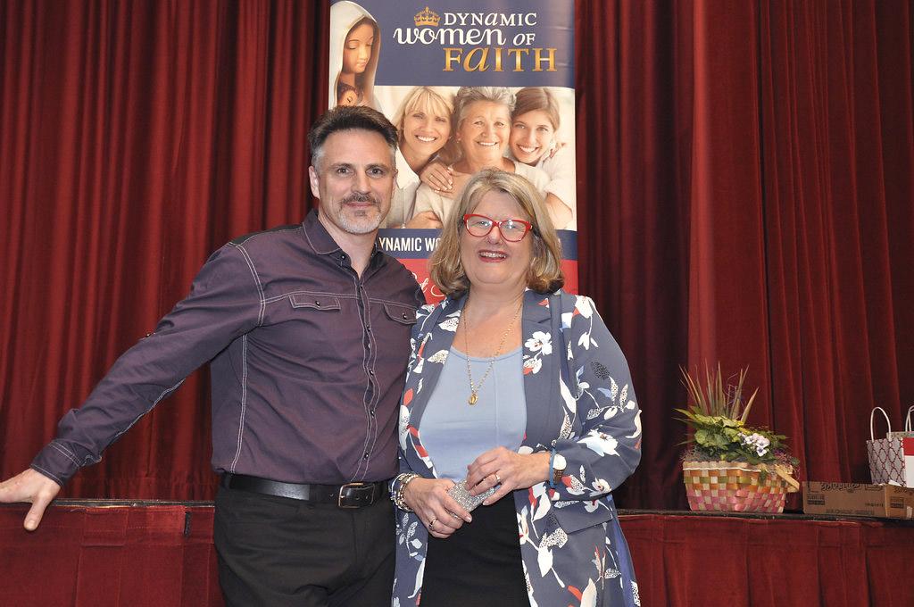 Dorothy Pilarski with Mark Mellett, Dynamic Women of Faith Conference 2018