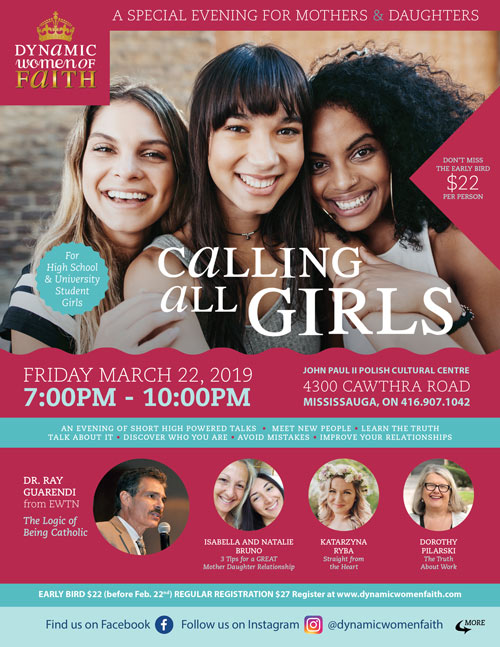 Calling All Girls evening 2018